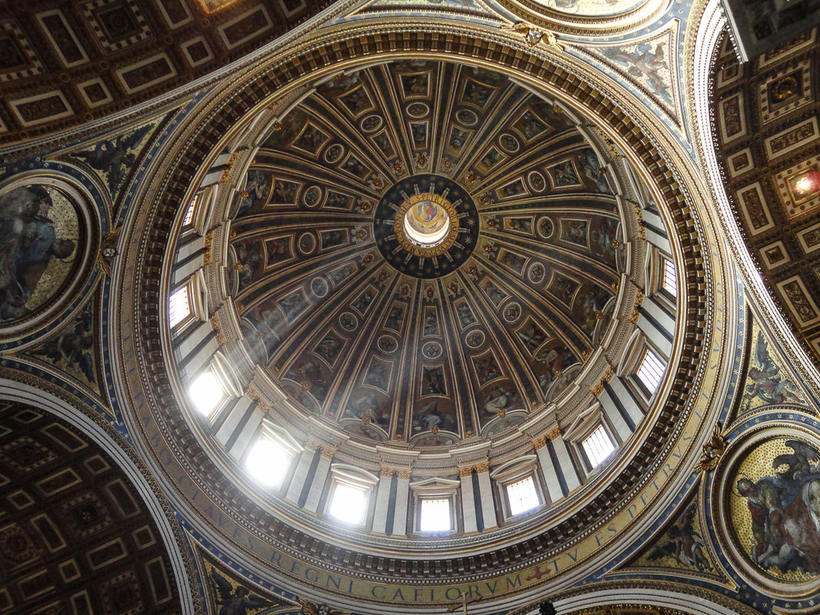 Visita el Vaticano - Cupula de San Pedro desde dentro