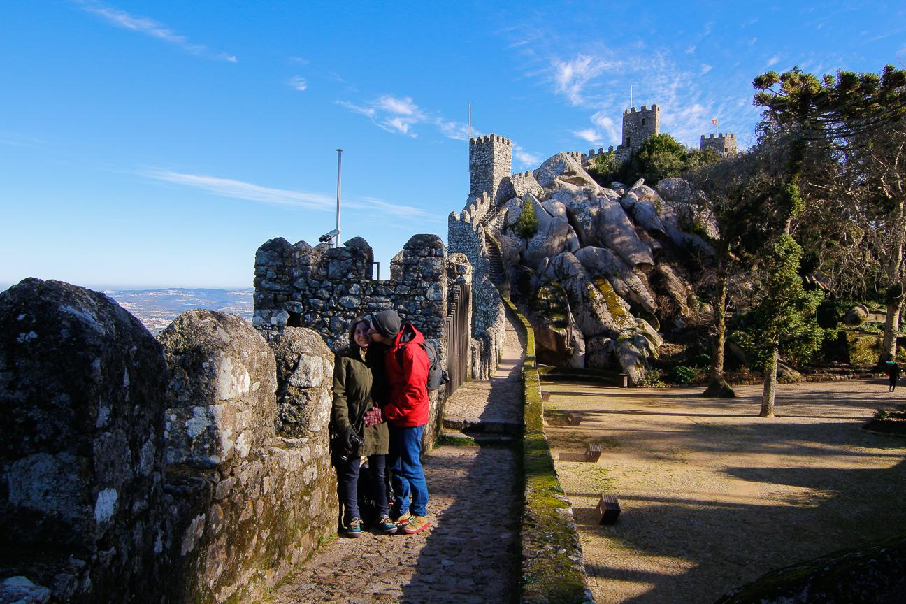 Visita al castillo dos moros en Portugal