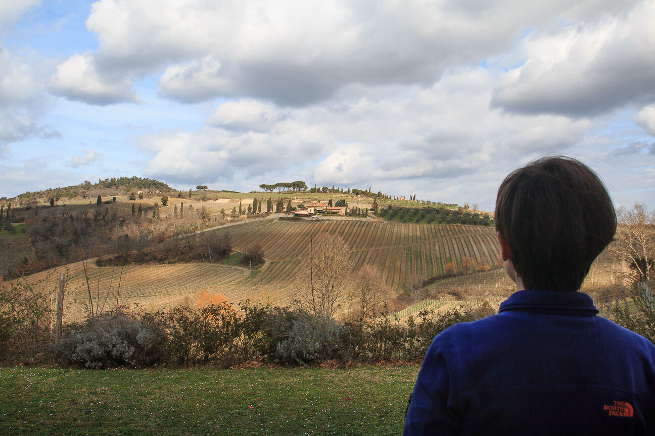 Vistas a la Toscana desde Villa Sabolini