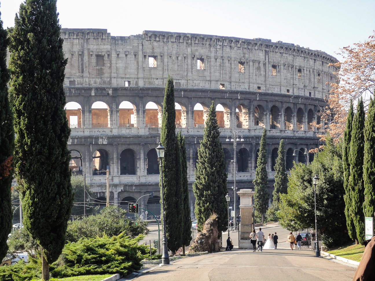 Vistas al Coliseo Romano