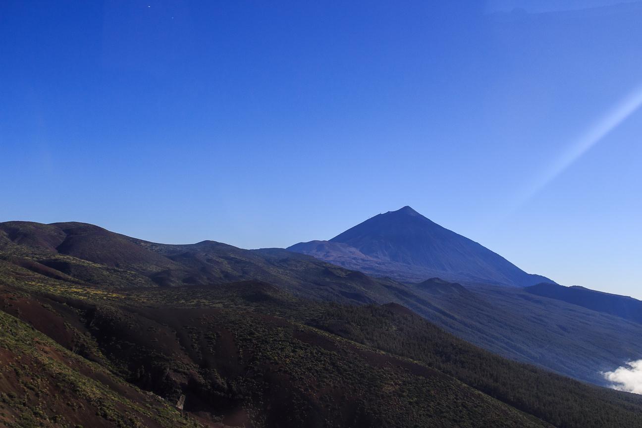 Vistas al Teide desde el norte de la isla