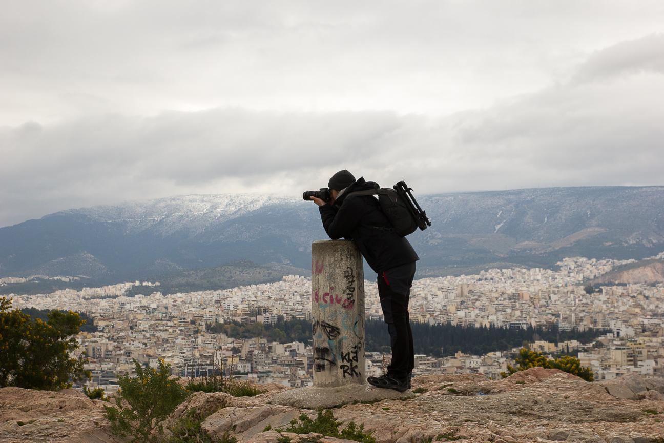 Vistas desde la colina de Filopapo