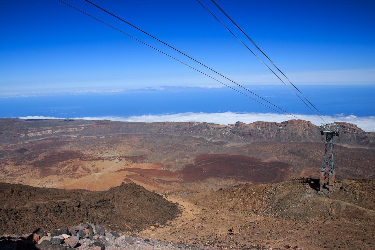 Vistas desde lo alto del Teleferico del Teide