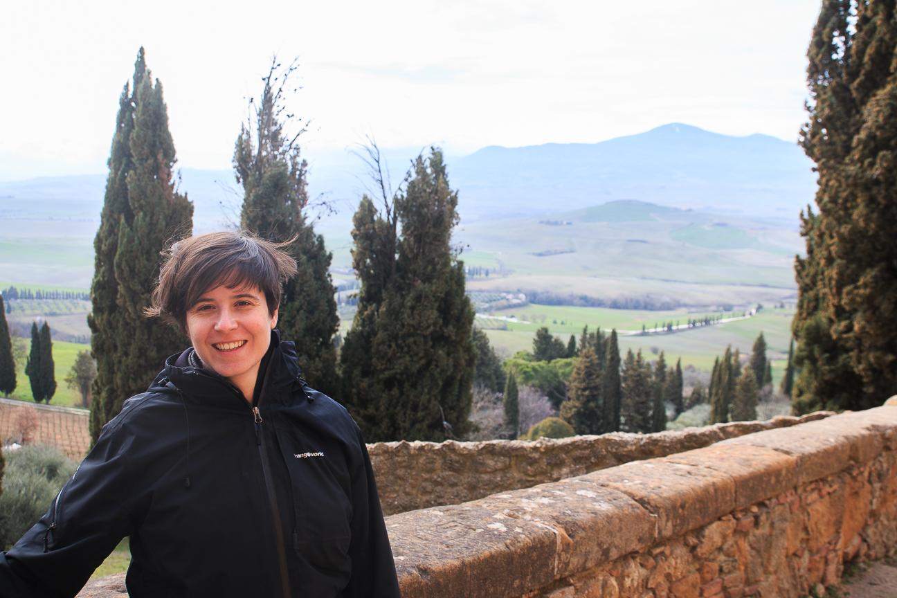Vistas desde Pienza en Toscana