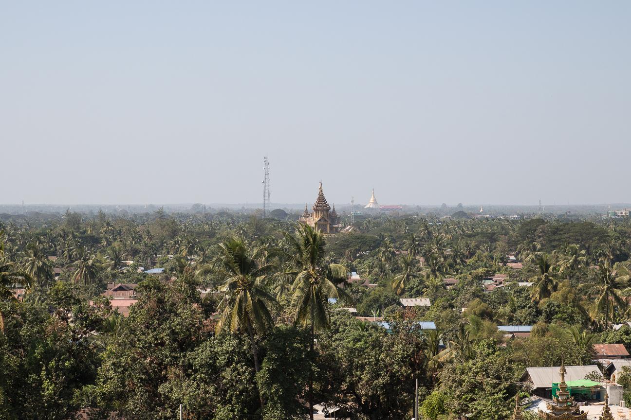 Vistas a Bago desde Hintha gon pagoda