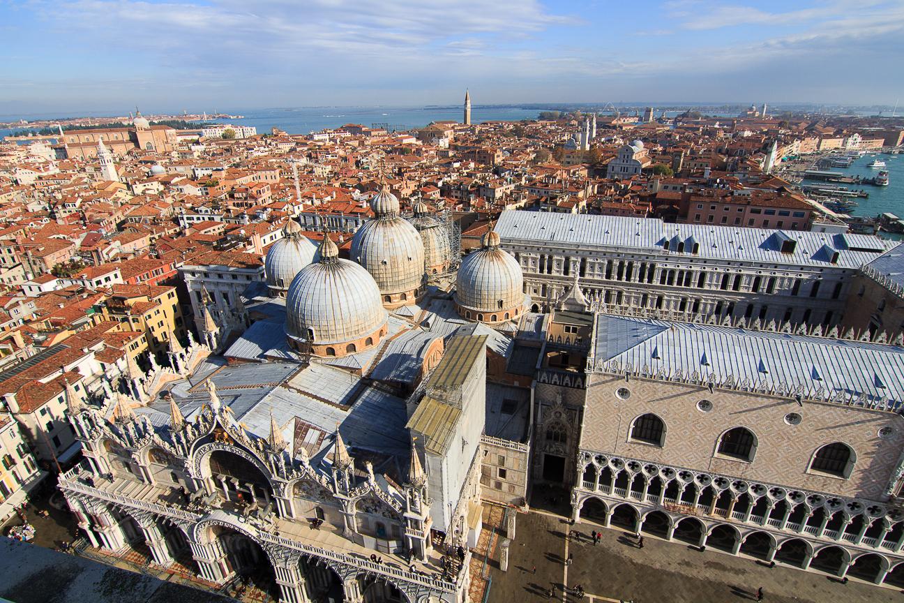 Vistas desde el Campanile de Venecia