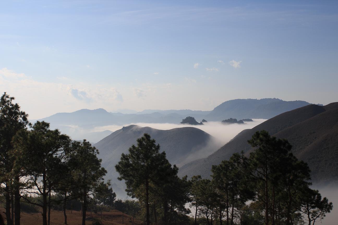 Vistas desde el punto mas alto del trekking