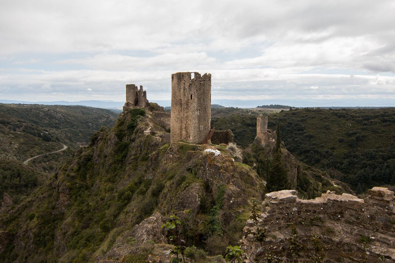 Vistas desde lo alto de Querthineux en Lastours