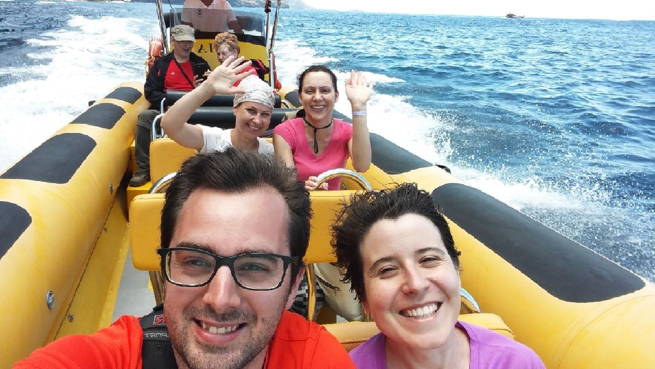 vuelta en barco desde Masca