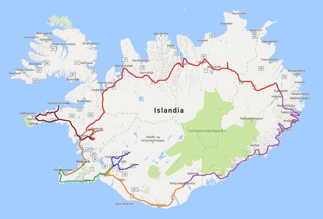 Vuelta a Islandia en invierno