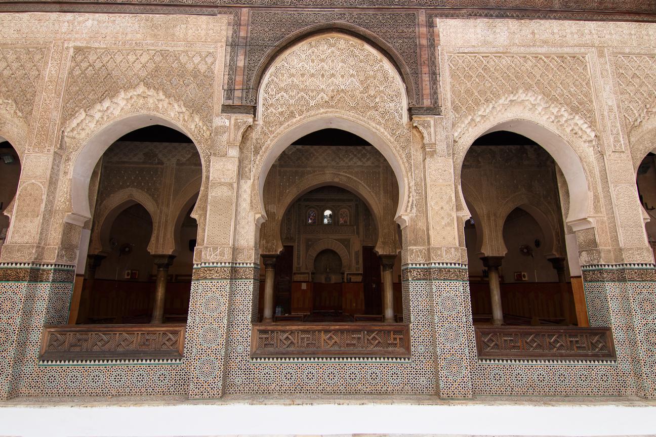 Zona de rezo en la madraza Bou Inania